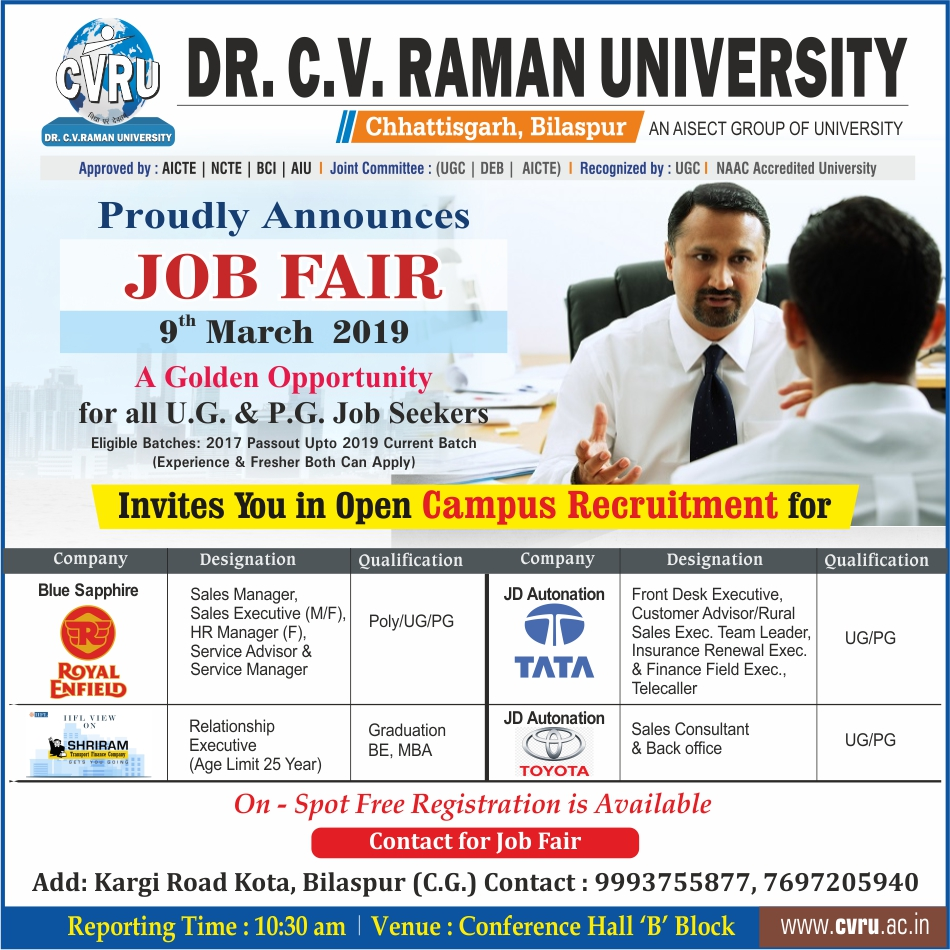 Job Fair 9 March