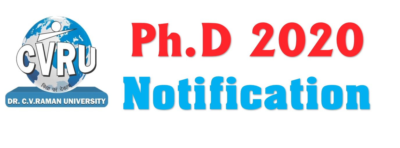 CVRU Ph.D.2020 Notification